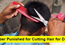 barber punished for cutting hair for dalits