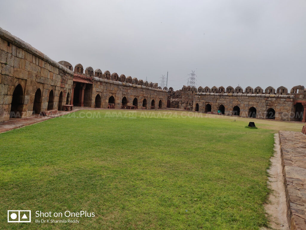 The courtyard of Darul Aman with fortified walls