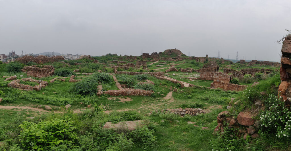 Traces of streets- ruined city of Tughlaqabad