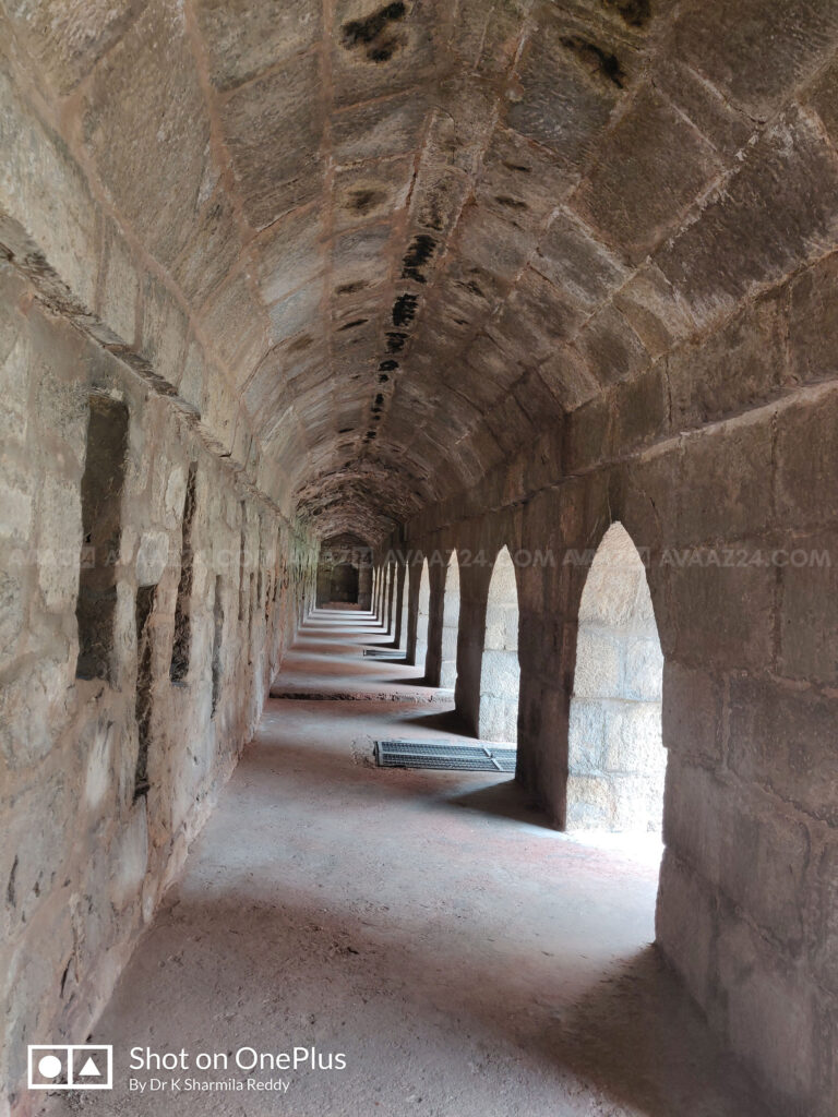The Underground vaults in the courtyard