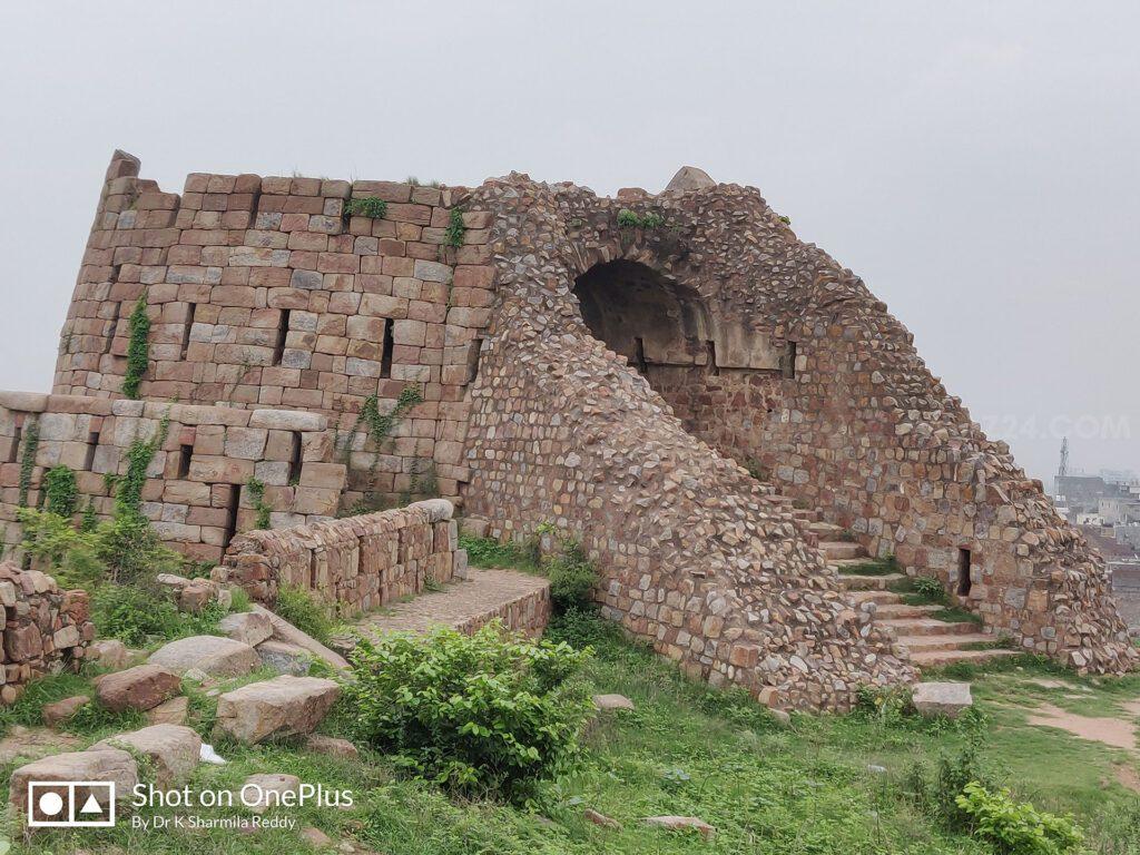 A broken multi-storied Bastion
