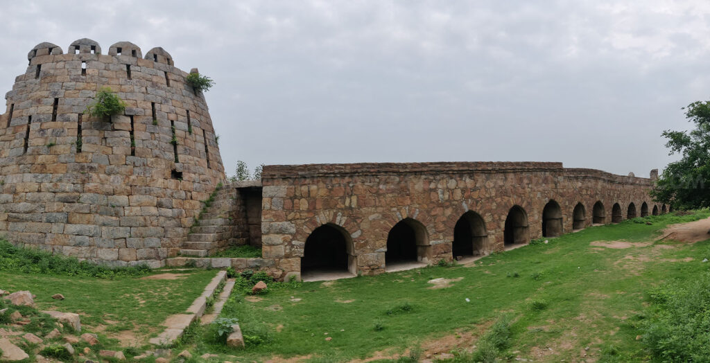 A Huge bastion and a true arched arcade wing