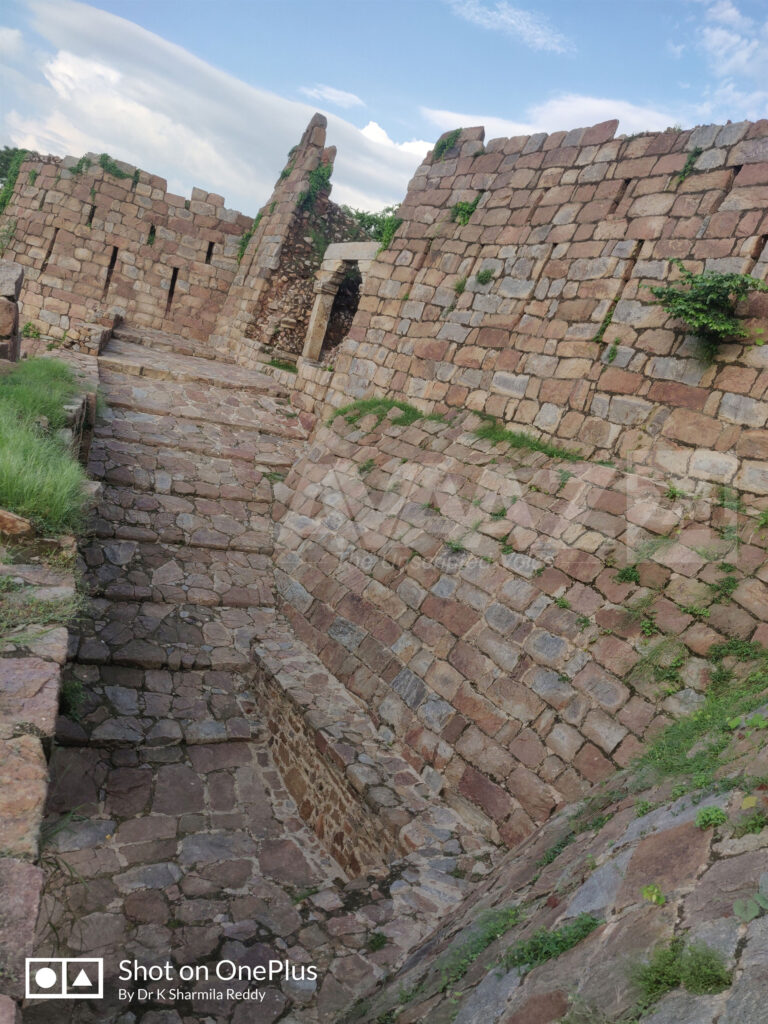Massive ramp leading to the Fort in the North-West