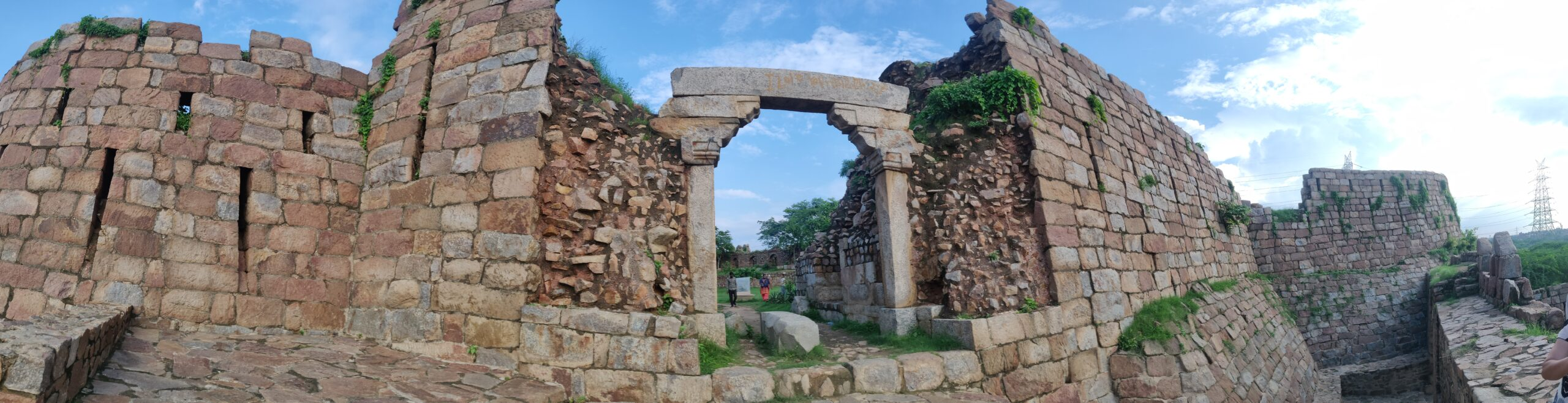 Adilabad Fort- Panoramic view of the entrance