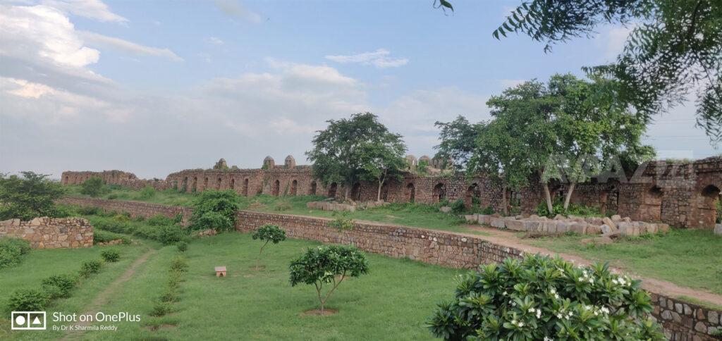 Ruins of Adilabad Fort - Panoramic view