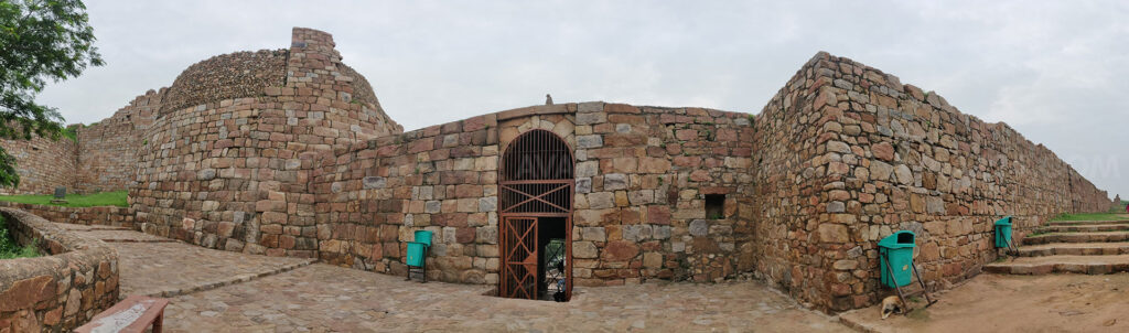 Tughlaqabad Fort- the entrance- interior view