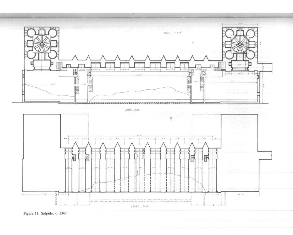 Site plan of Satpula [pic from The Tughluqs: Master builders of the Delhi Sultanate of Anthony Welch and Howard Crane]