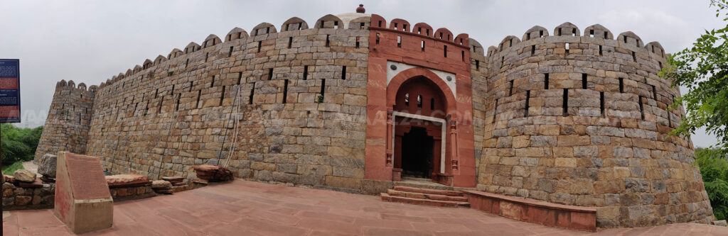 Darul Aman: the fortress tomb - Panoramic view
