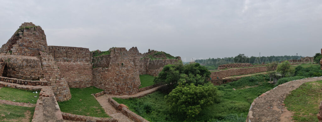 The ruins of the fortified city