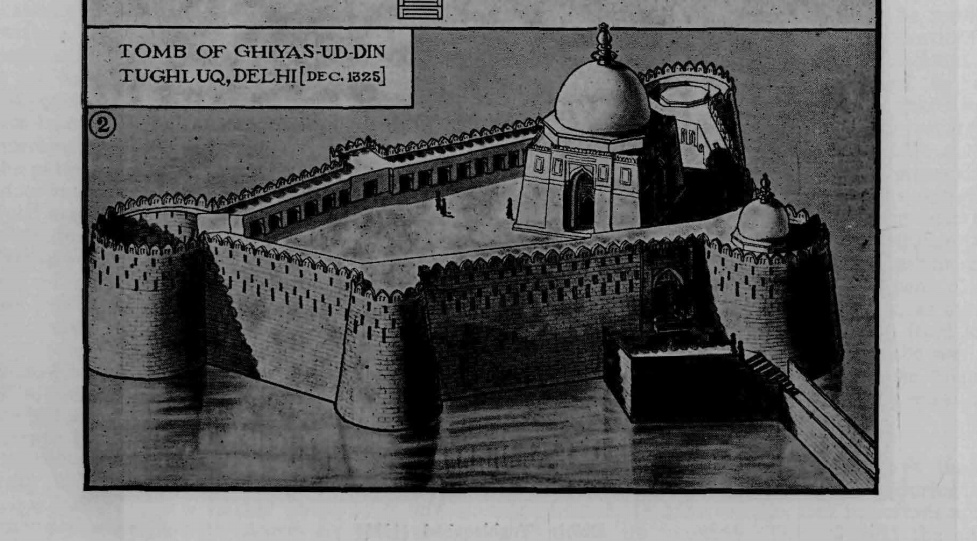 Darul Aman- a complete view- Pic from Percy Brown's Indian Architecture (Islamic Period)-1981
