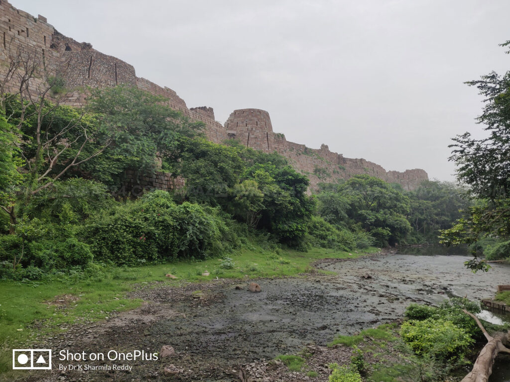 The Moat around the Fort Wall of Tughlaqabad