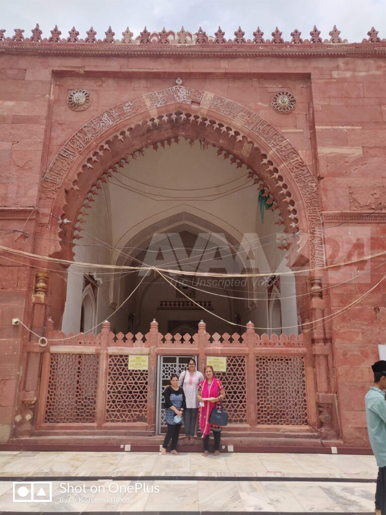 Author Dr K Sharmila Reddy with her friends at the Jamat Khana Mosque