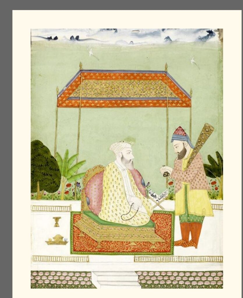 Sheik Nizam-ud-din Auliya [from Rare Book Society of India- Hyderabad Circa 1800]