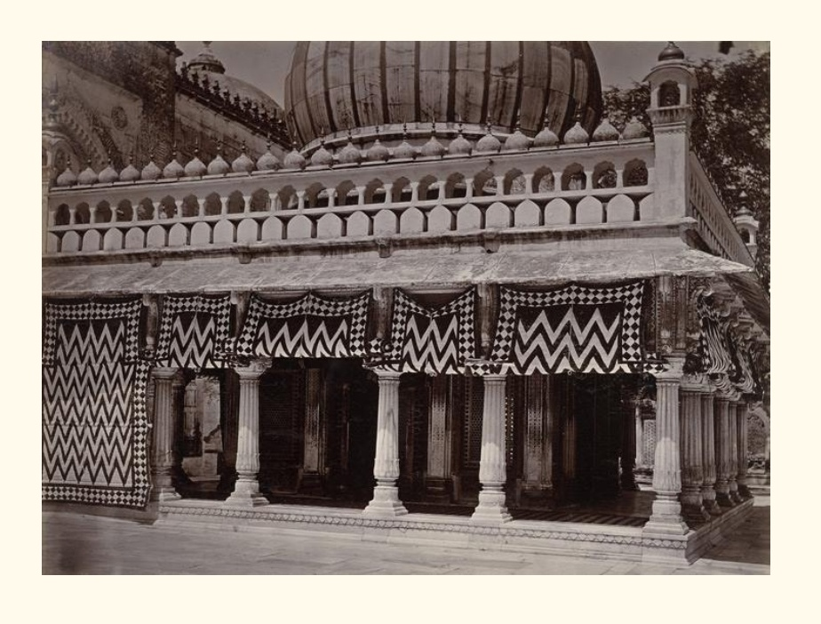 Tomb of Nizam-ud-din- a rare photo from Macnabb Collection, 1895