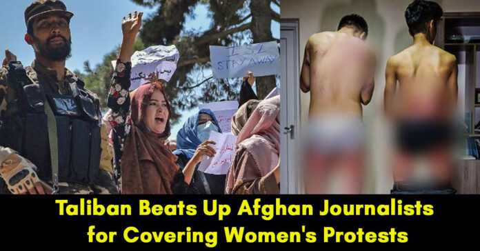 taliban beats journalists